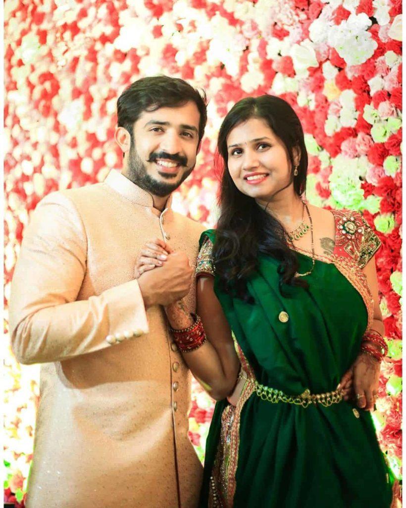 Ravi with his wife Nitya Saxena