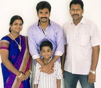 Sivakarthikeyan with his sister