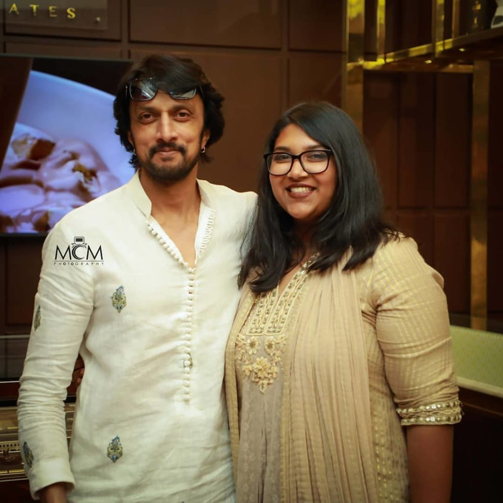 Sudeep with his Daughter Saanvi
