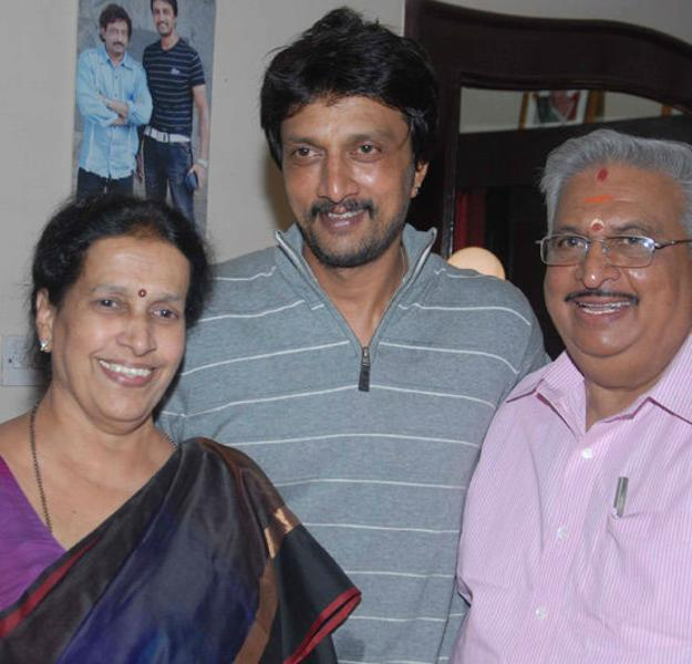 Sudeep with his Parents