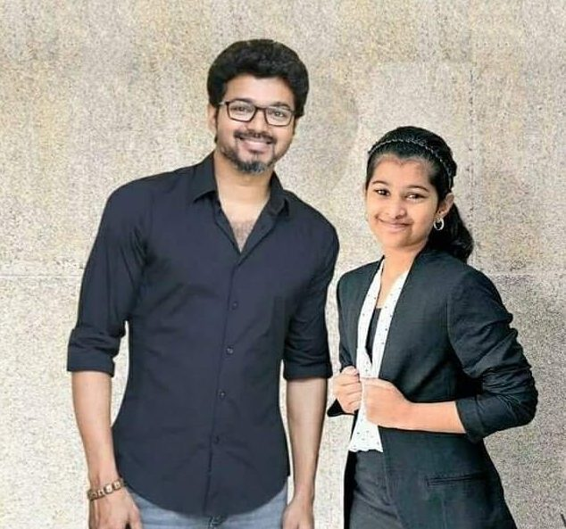 Vijay with his daughter Divya
