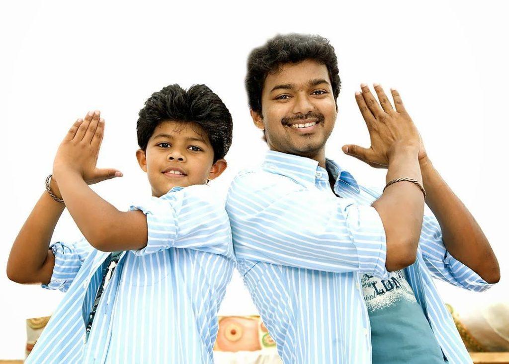 Vijay with his son Sanjay