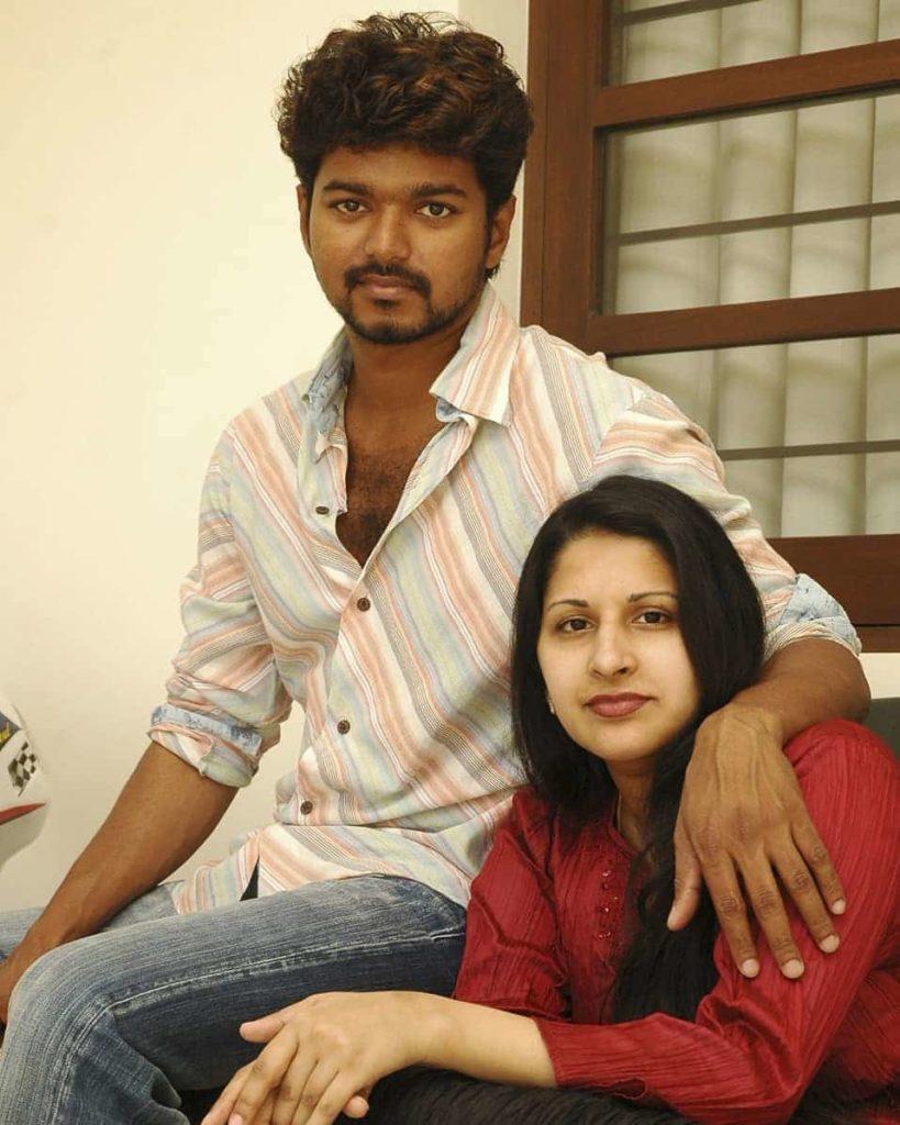 Vijay with his wife