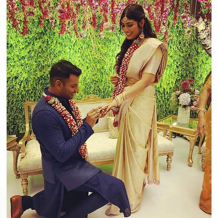 Vishal got engaged Anisha Alla Reddy
