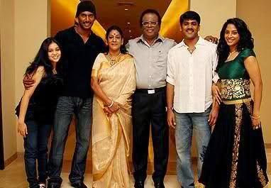 Vishal with his Family