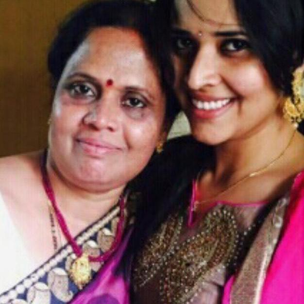 Anasuya With Her Mother