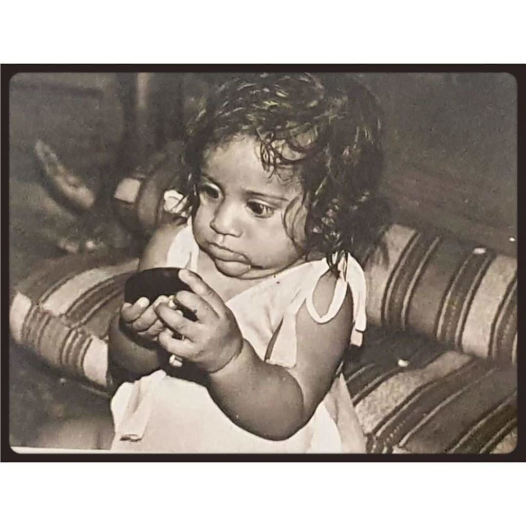 Rashmi Gautam in her childhood