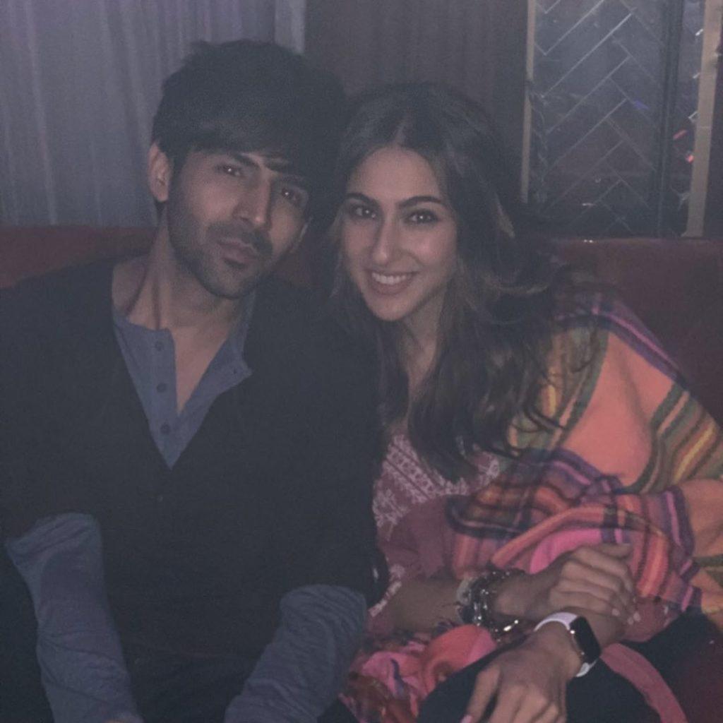 Sara Ali Khan with Kartik