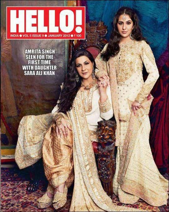 Sara Ali Khan with her Mother on Hello Magazine