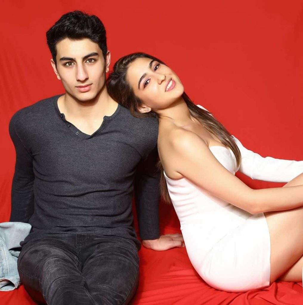 Sara Ali Khan with her brotherSara Ali Khan with her brother