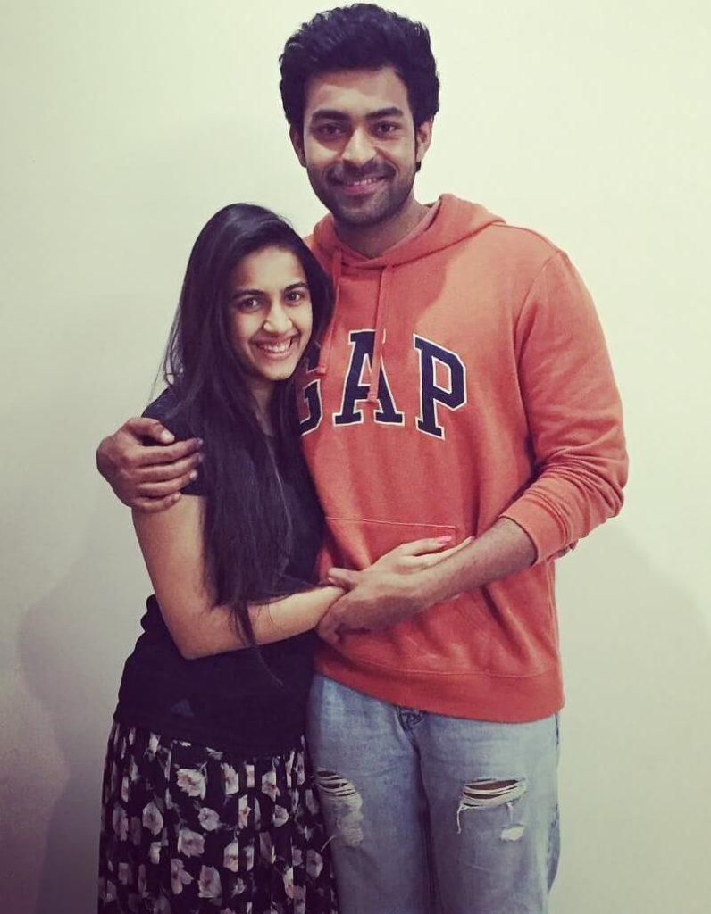 Varun Tej with his sister Niharika Konidela