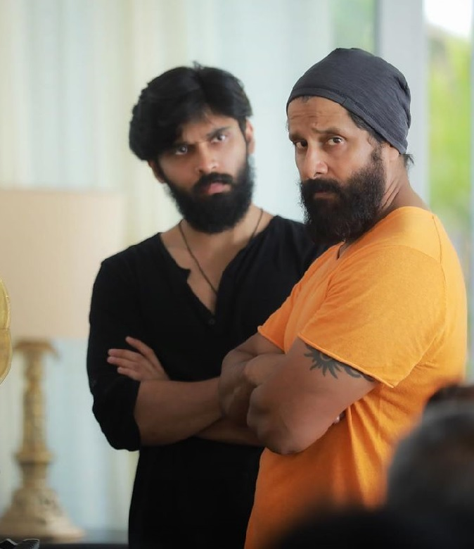Vikram with his Son Dhruv