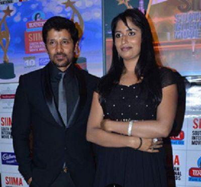 Vikram with is wife Shailaja BalakrishnanVikram with is wife Shailaja Balakrishnan