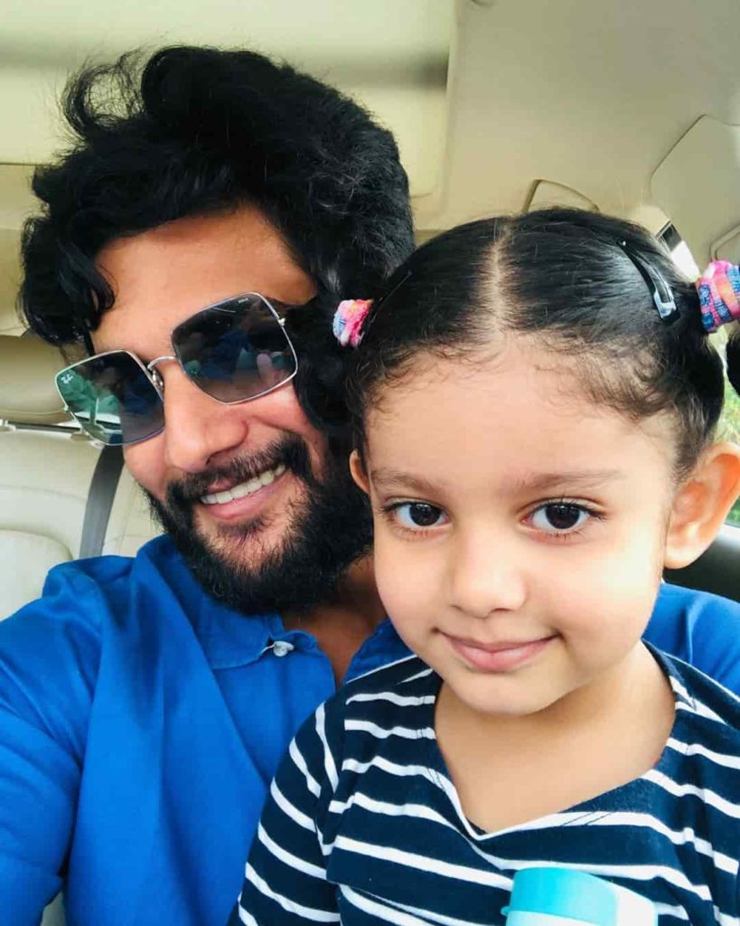 Aadi with his Daughter Ayaana