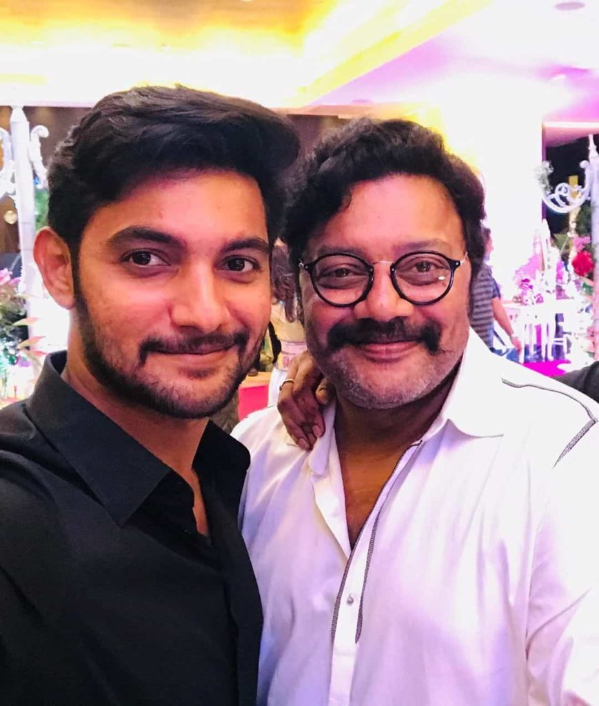 Aadi with his Father Sai Kumar