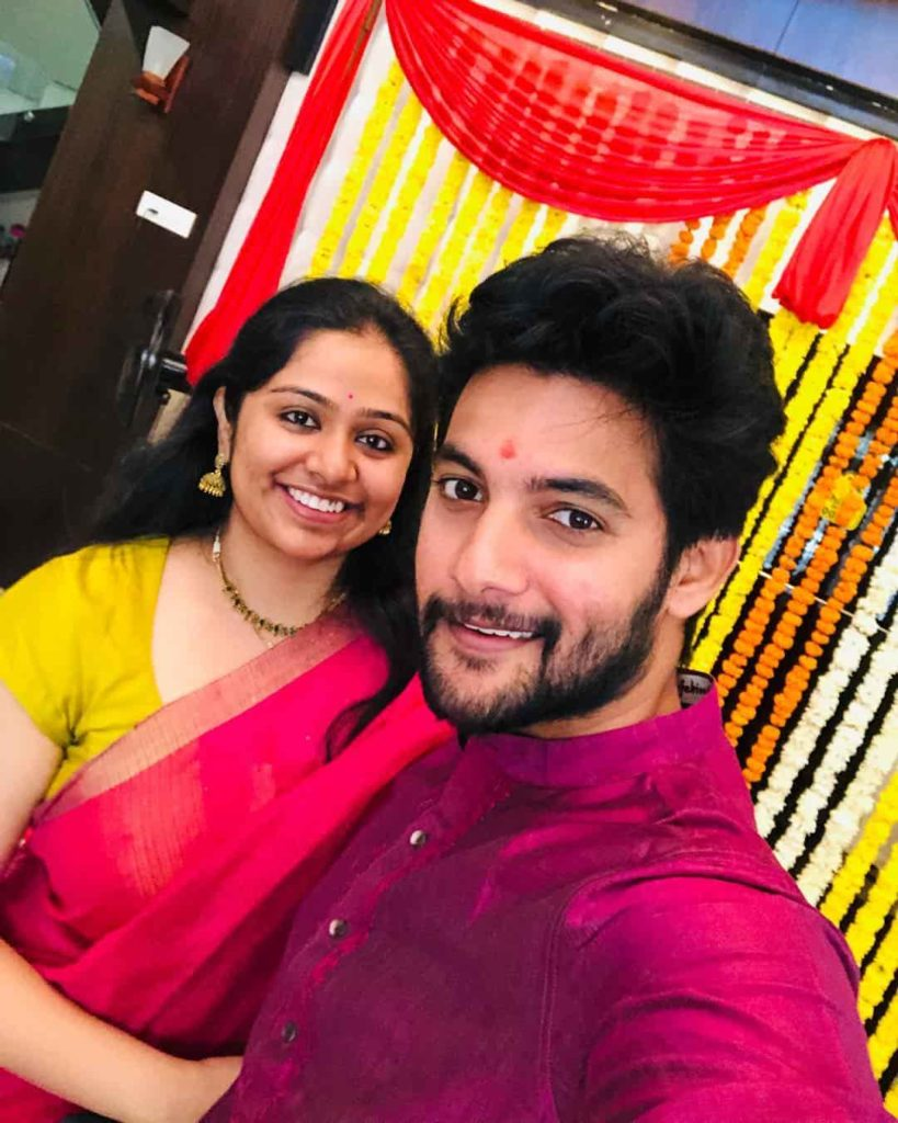 Aadi with his Wife