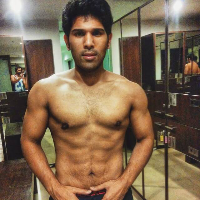 Allu Sirish Body workout