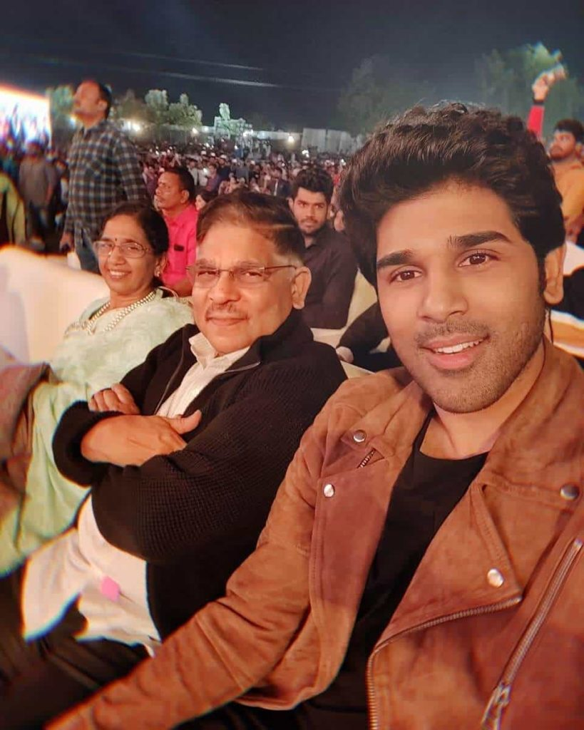 Allu Sirish with his Father Allu Aravind