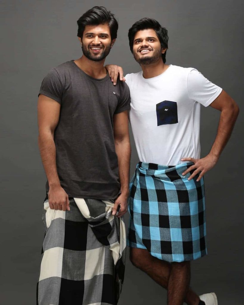 Anand Deverakonda with his Brother Vijay Devarakonda