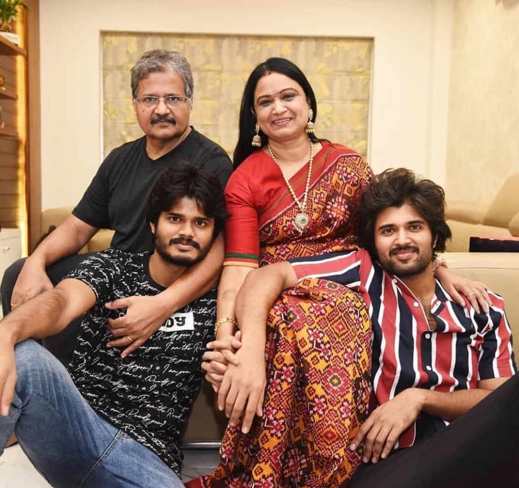 Anand Deverakonda with his Family