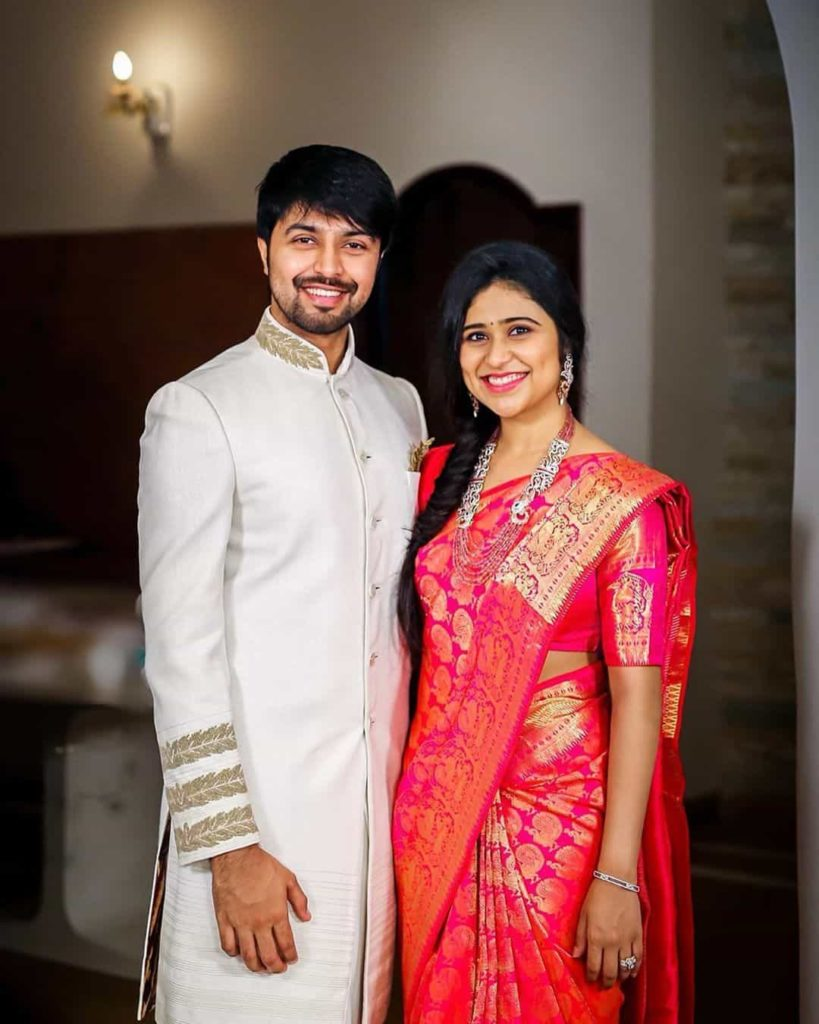 Kalyaan Dev with his Sister Aishwarya Lanka