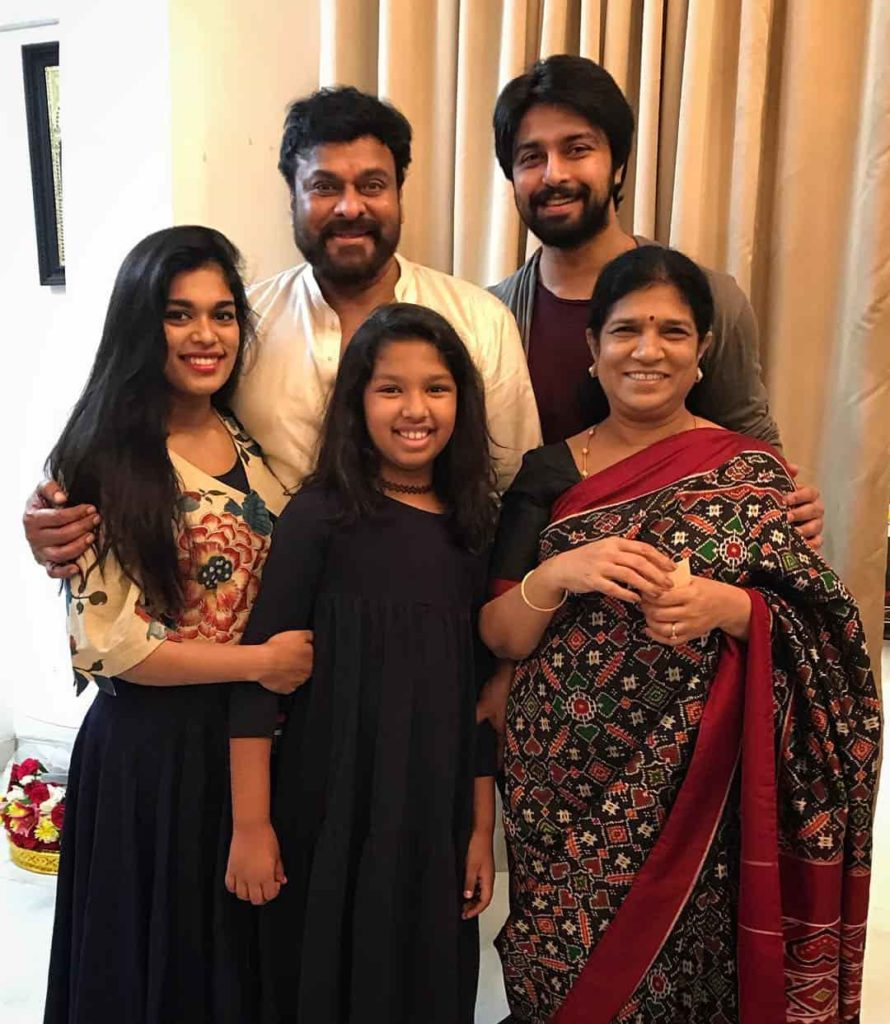 Kalyaan Dev with his Wife Family