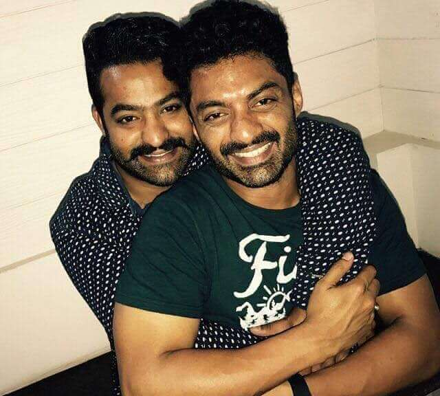 Kalyan Ram with his Brother NTR Jr