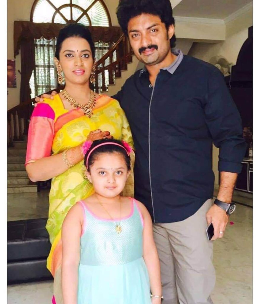 Kalyan Ram with his Wife Swathi and Daughter