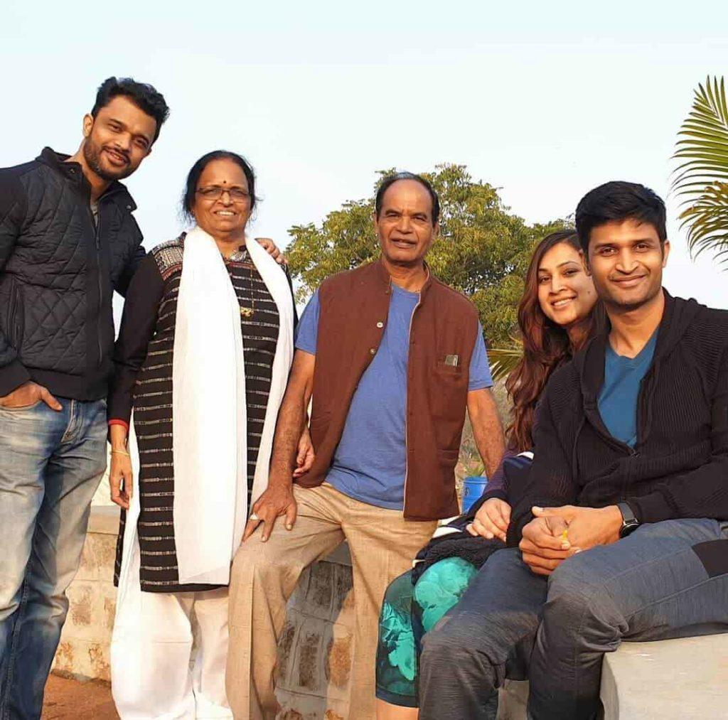 Kamal Kamaraju with his Family