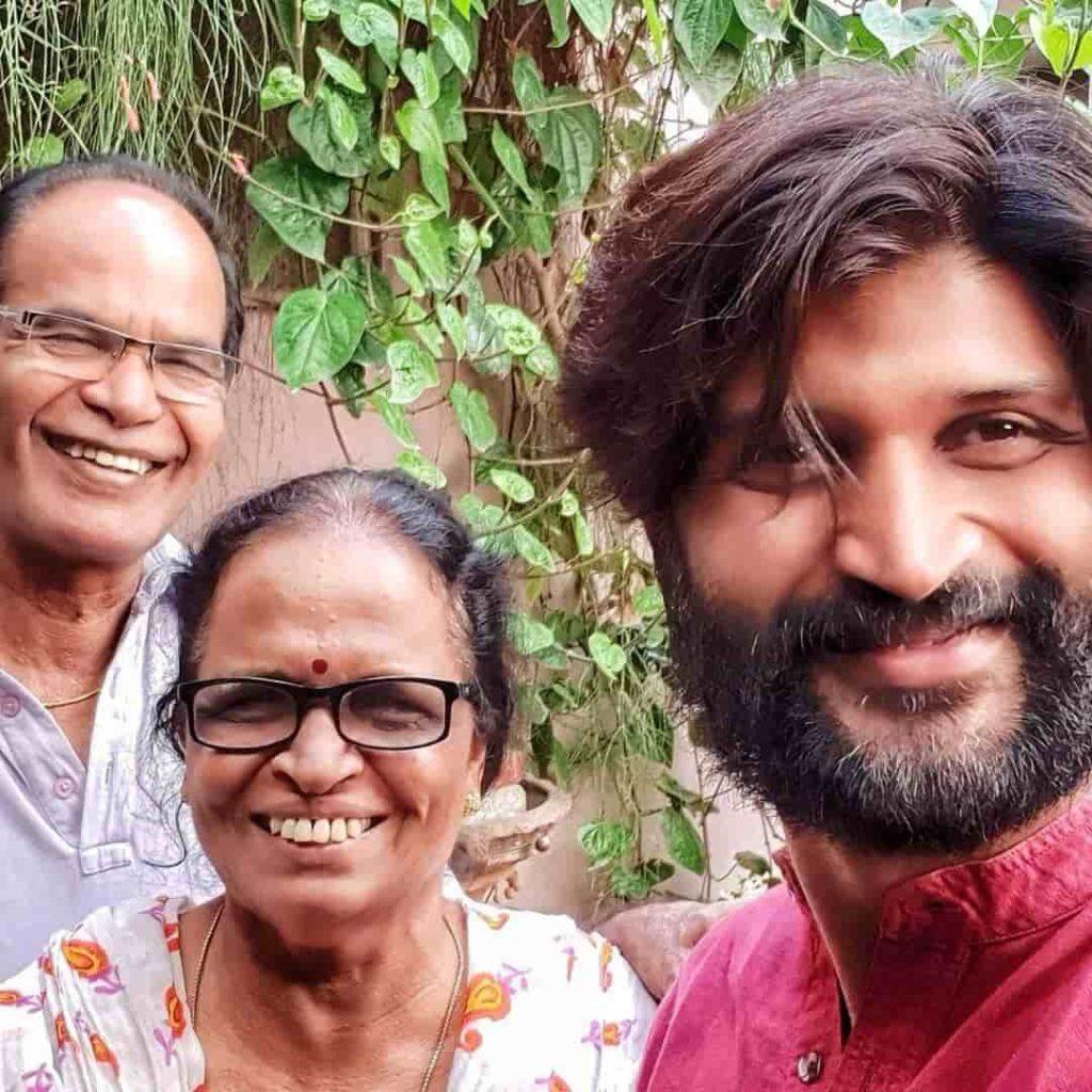 Kamal Kamaraju with his Parents