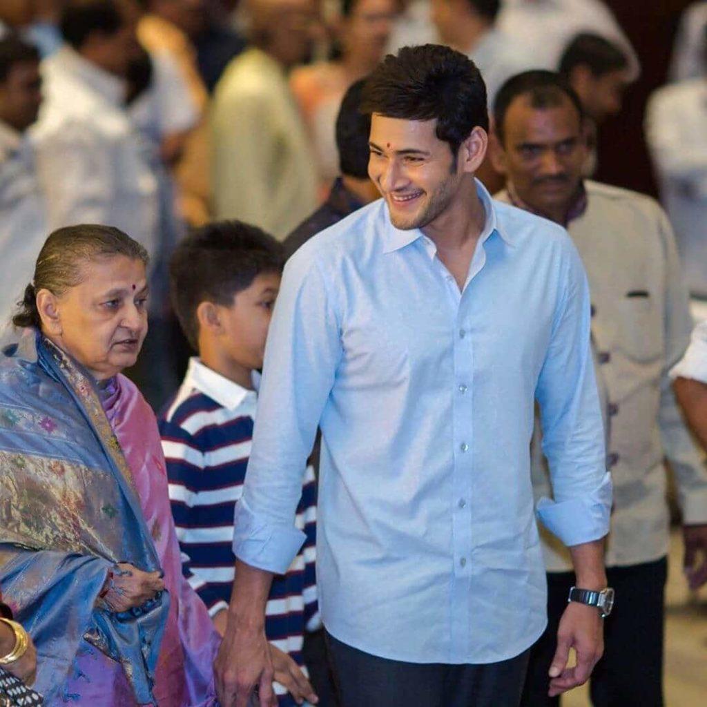 Mahesh Babu with his Mother Indira Devi