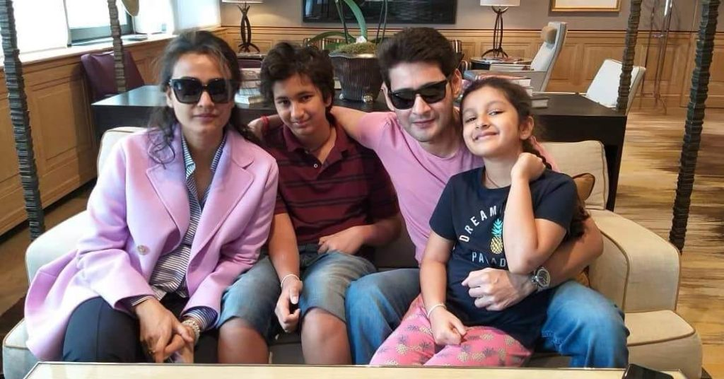 Mahesh Babu with his Wife and Childrens