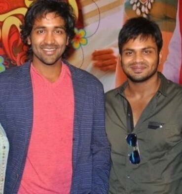 Manchu Manoj with his Brother Vishnu Manchu
