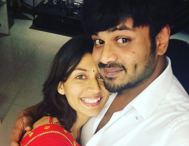 Manchu Manoj with his Ex Wife Pranathi Reddy