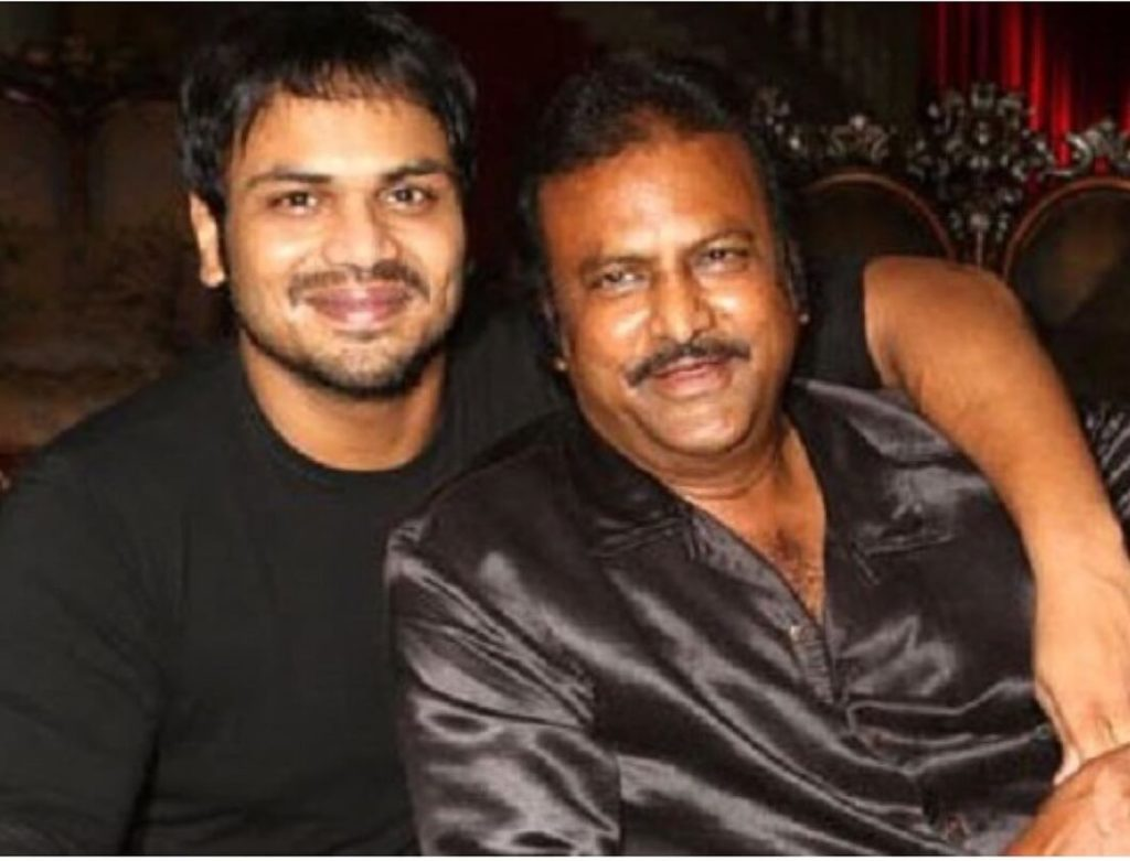 Manchu Manoj with his Father Mohan Babu
