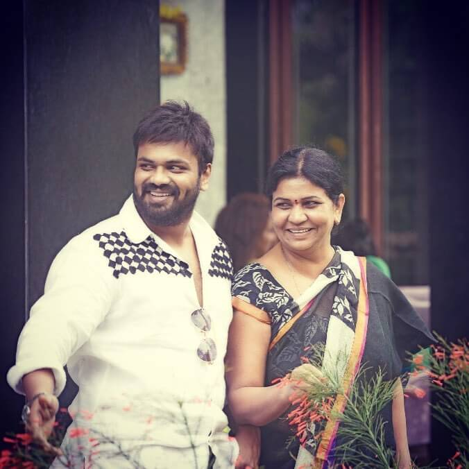 Manchu Manoj with his Mother Nirmala Manchu