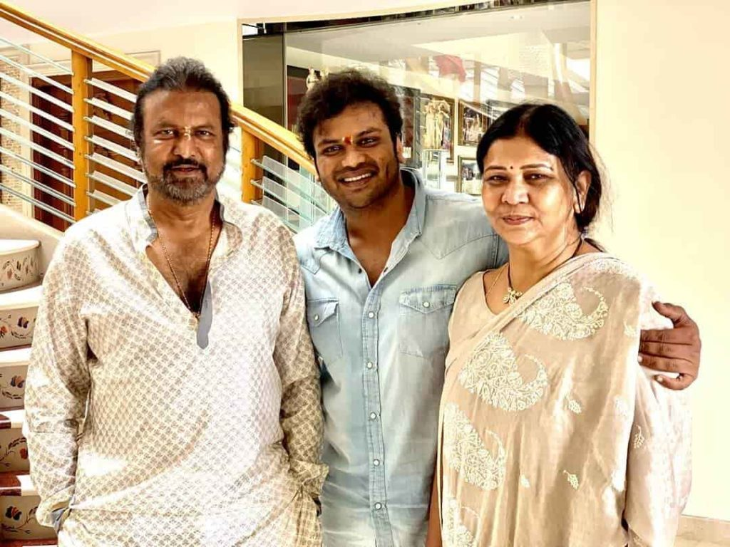 Manchu Manoj with his Parents