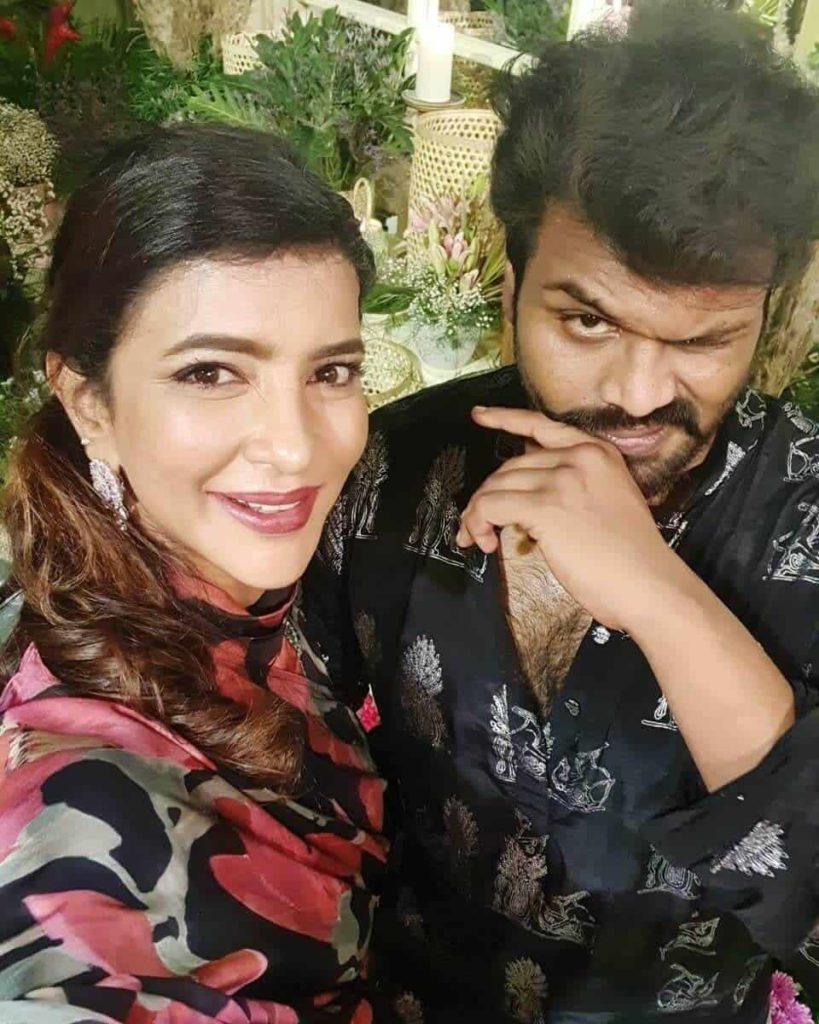 Manchu Manoj with his Sister Lakshmi Manchu