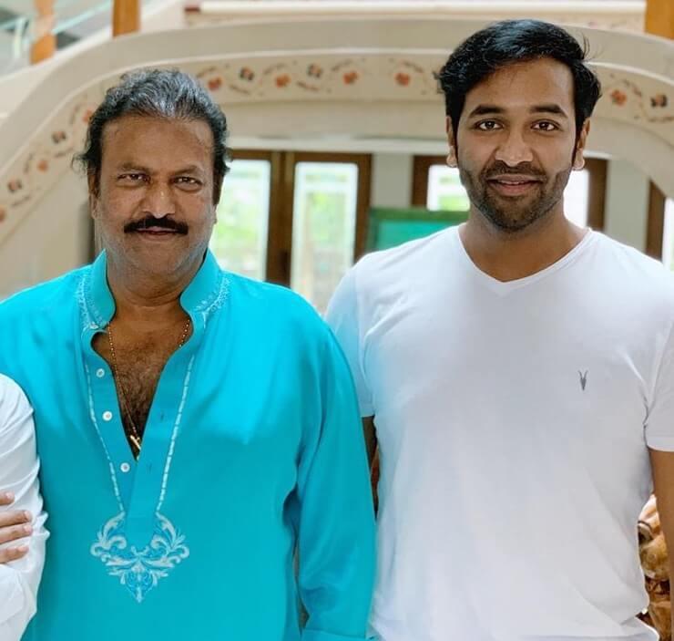 Manchu Vishnu with his Father Mohan Babu