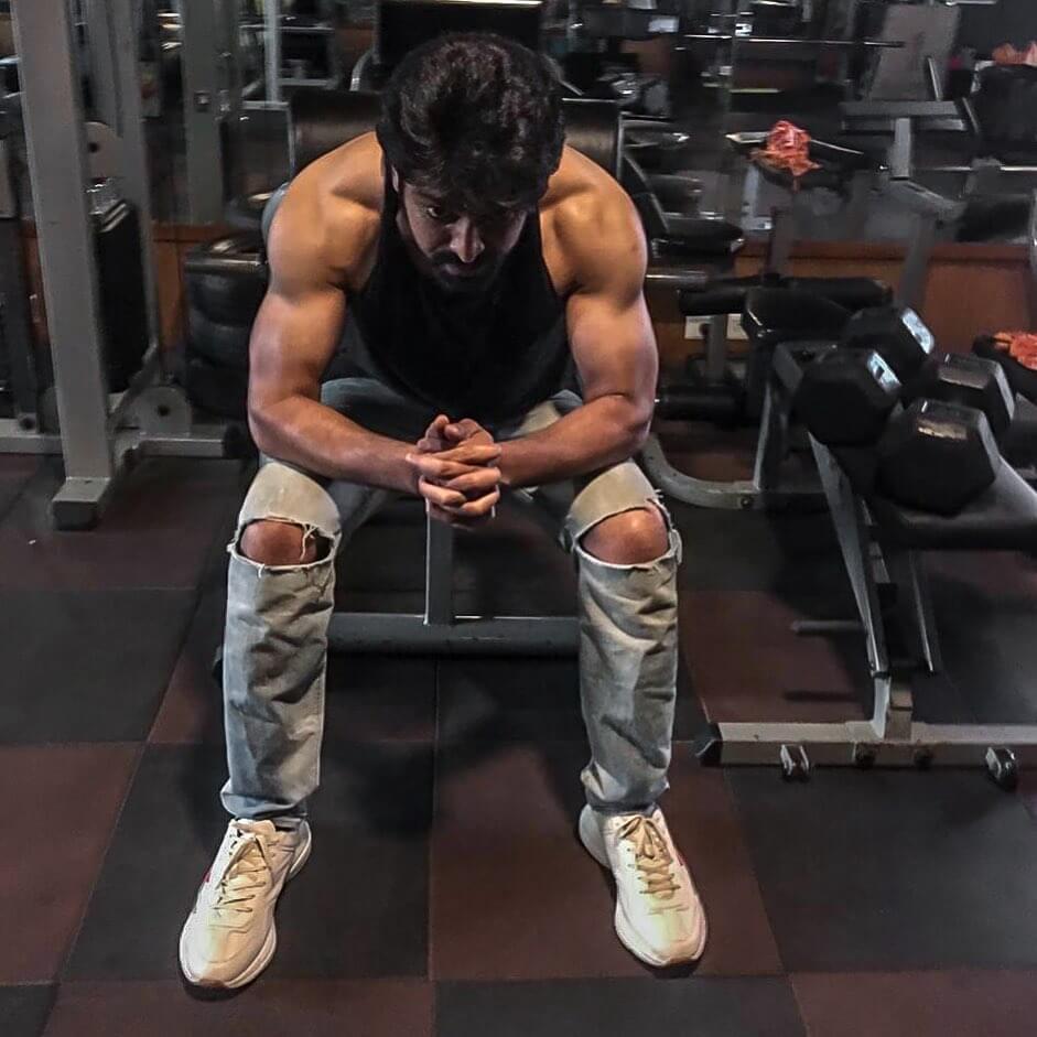 Naga Shaurya in Gym