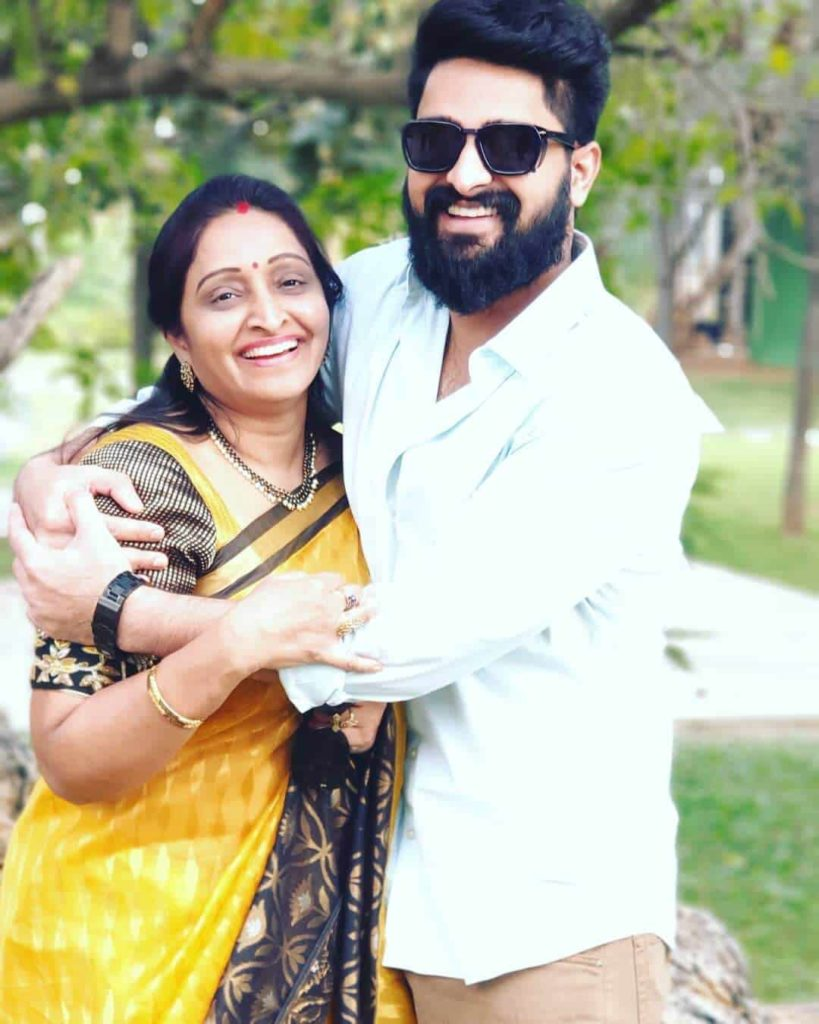Naga Shaurya with his Mother Usha Prasad
