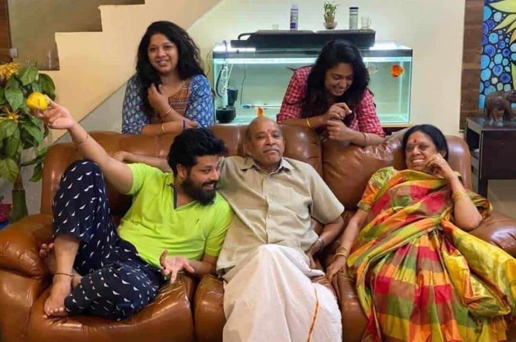 Nandu with his Family