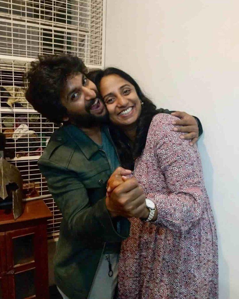 Nani with his Sister Deepthi Ghanta