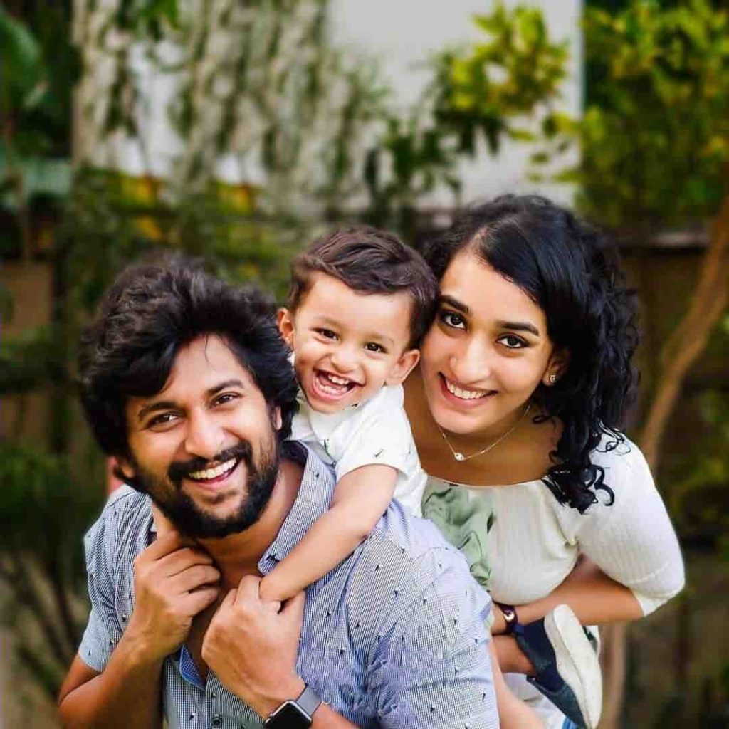 Nani with his Wife and Son