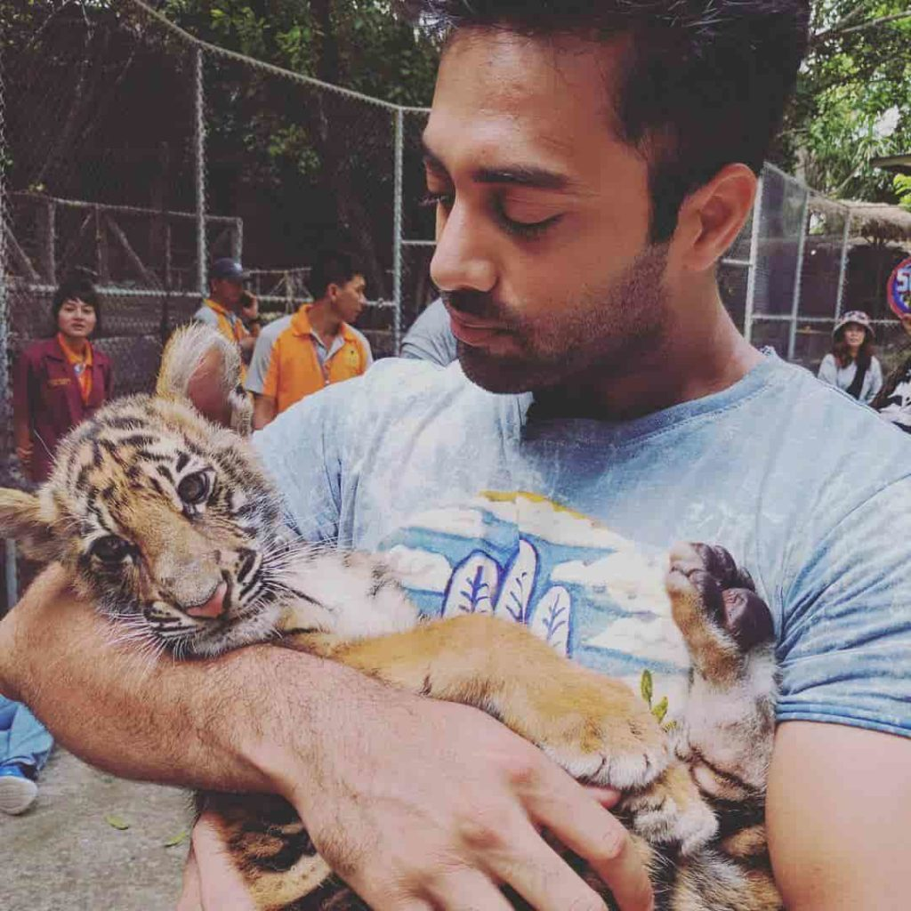 Navdeep with Baby Tiger