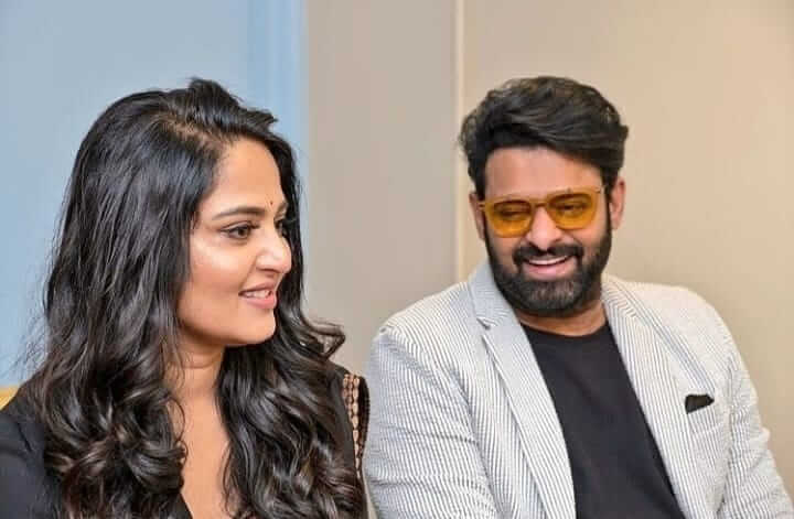 Prabhas with Anushka Shetty