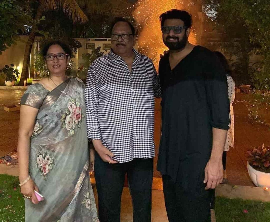 Prabhas with his uncle Krishnam Raju