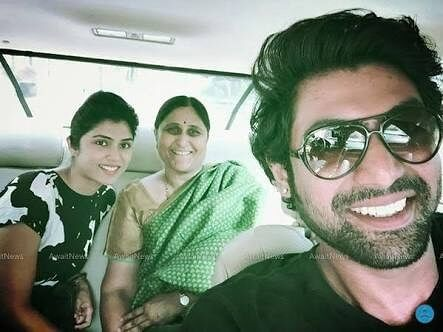 Rana Daggubati with his Mother