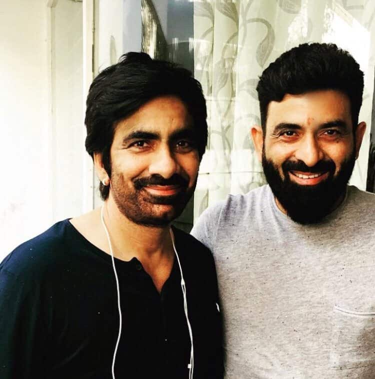Ravi Teja with his Brother Raghu Raju
