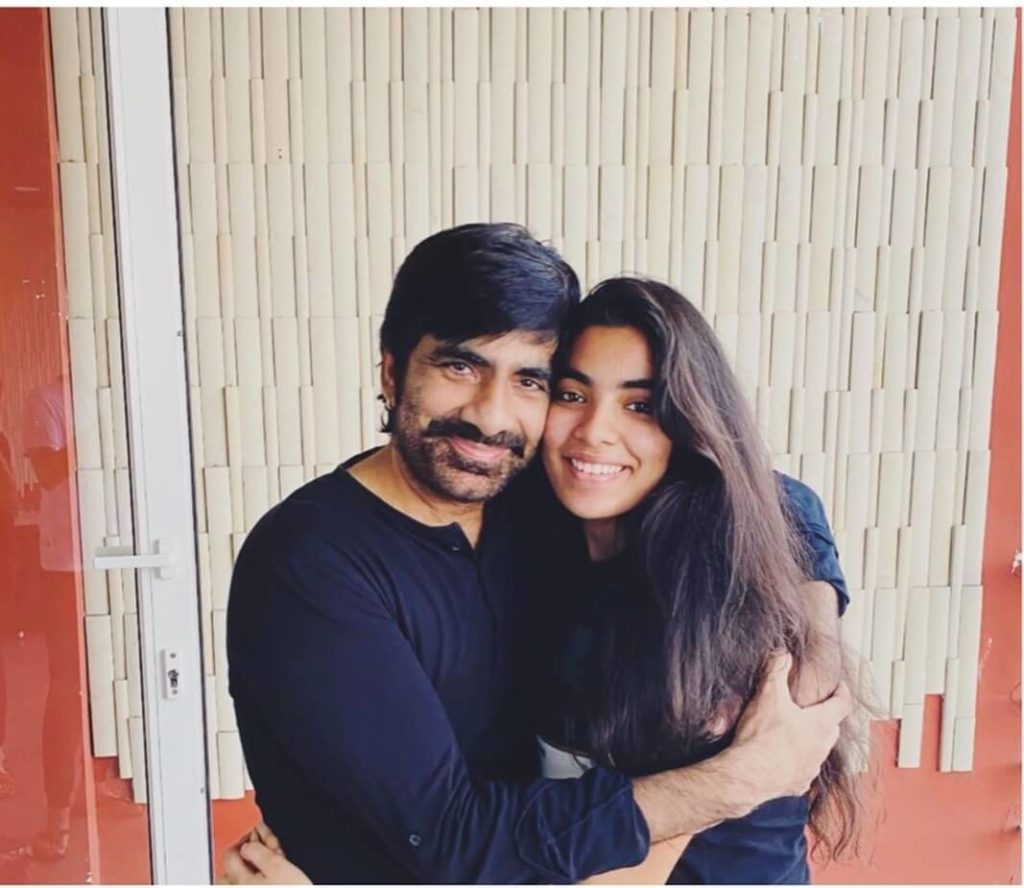 Ravi Teja with his Daughter Mokshadha Bhupatiraju
